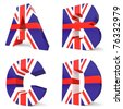 3d collection of UK letters - A B C D - stock photo