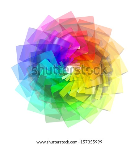 3d color spiral abstract background - stock photo