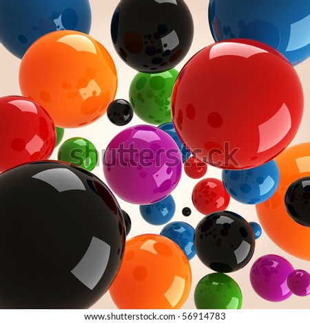 3d colorful balls - stock photo