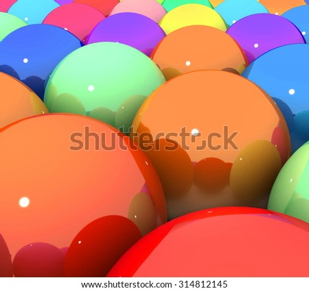 3d colorful glossy balls  - stock photo