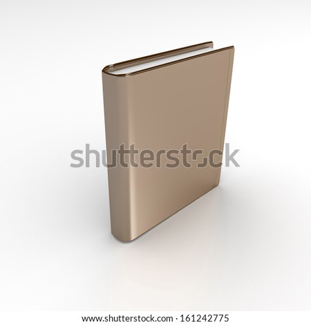 3d colorful hardcover book isolated on white background