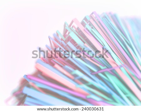 3D Colorful spectrum polygonal lines abstract background - stock photo