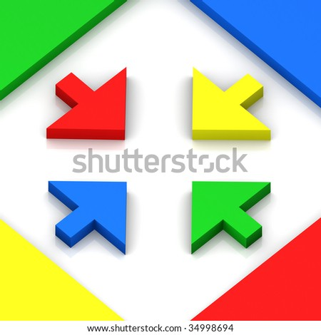 3D Colorful Ways Home - stock photo