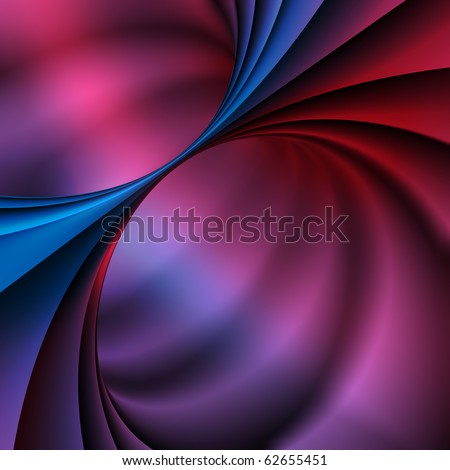 3D Colorfull Spiral - stock photo