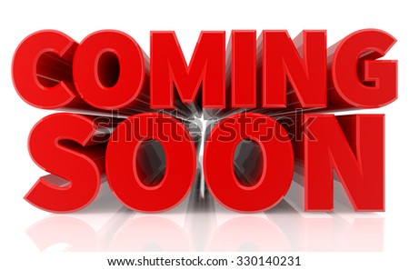 3D COMING SOON word on white background 3d rendering - stock photo