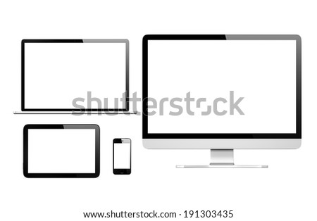3D Communication Devices - stock photo