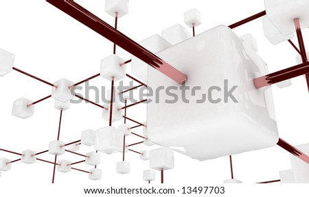 3d communication platform - stock photo