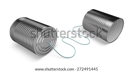 3D. Communication, Telephone, Can. - stock photo