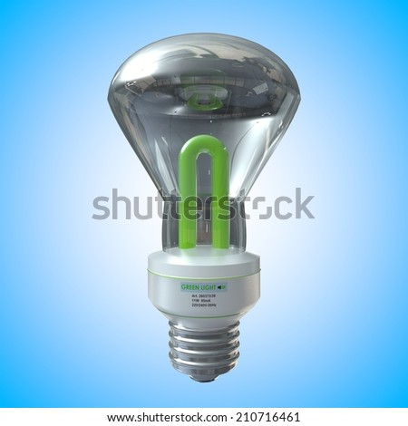 3D computer rendered illustration light bulb with blue background