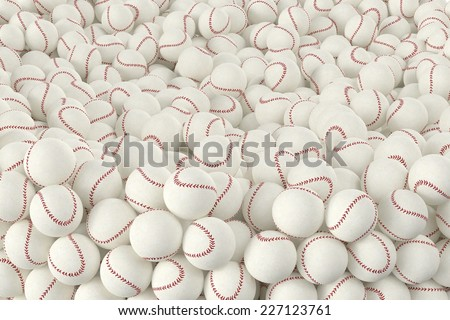 3D computer rendered illustration the Different Baseballs   - stock photo