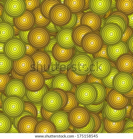 3d concentric circle pattern backdrop in orange green