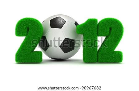 3D Concept  Championship of Europe on Football 2012 - stock photo