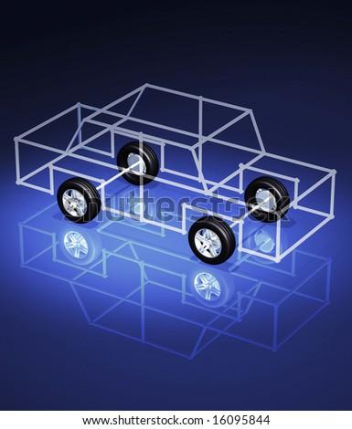 3d concept illustrations - stock photo