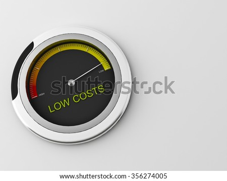 3d concept of a  indicator - stock photo