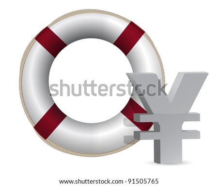 3d concept problem of the crisis in japan illustration design - stock photo