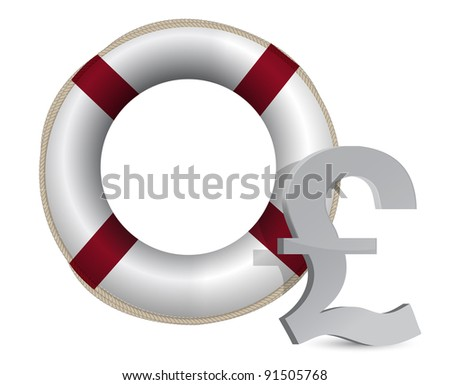 3d concept problem of the crisis in uk illustration design - stock photo