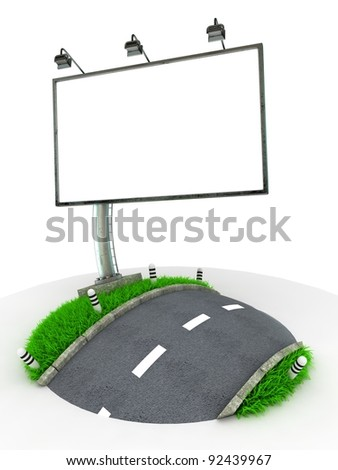 3D Concept Traffic Sign isolated on White Background - stock photo