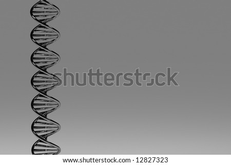 3D conceptual illustration of a DNA double helix