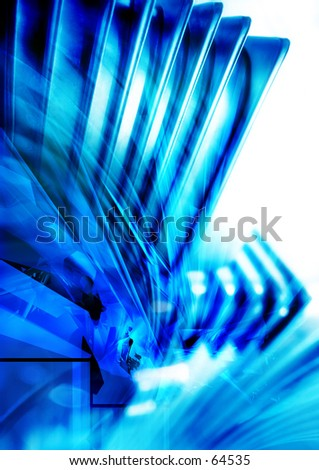 3D Conceptual Illustration Two - stock photo