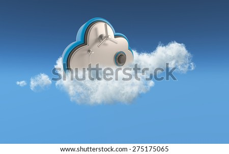 3D conceptual image of security in cloud storage - stock photo