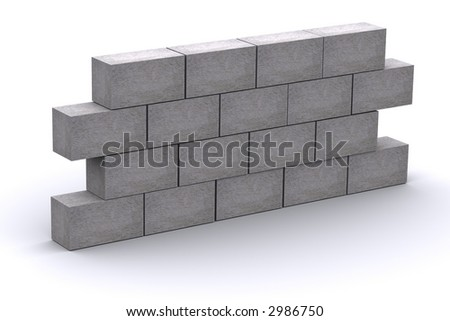 3d Concrete Wall - stock photo