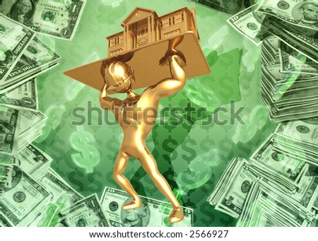 3D Construction Concept - stock photo