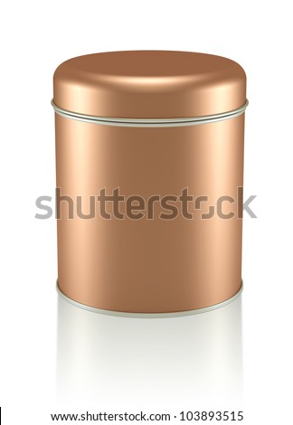 3D copper Tin Can design product package