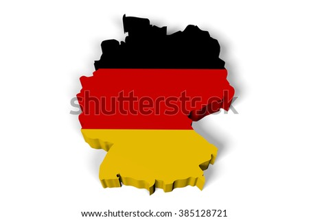 3D country concept - Germany.