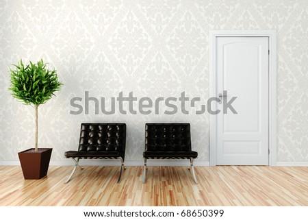 3d cozy interior design - stock photo