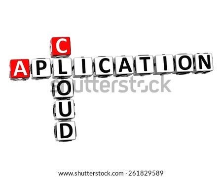 3D Crossword Cloud Aplication on white background