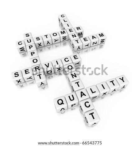 3d crossword - support theme - stock photo