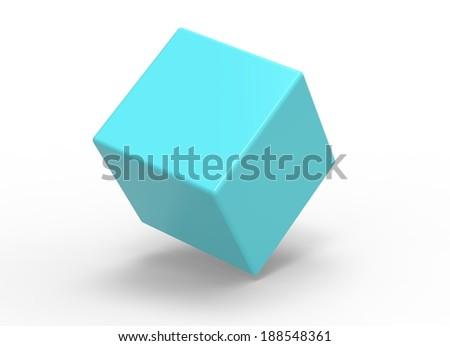 3d cube on white background