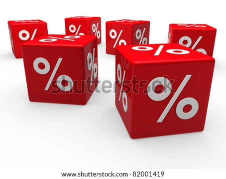 3d cube red sale discount retail percentage