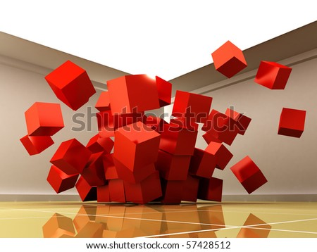 3d cubes. - stock photo