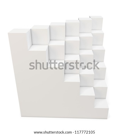 3d cubes abstract on white background