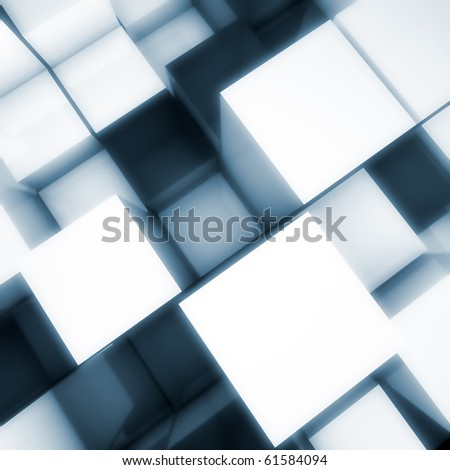 3D cubes background - stock photo