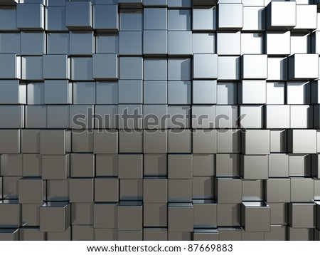 3d cubes background - illustration - stock photo