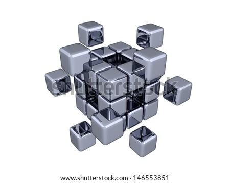 3D Cubes - Elements - stock photo