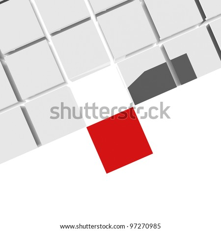 3D cubes with different element, isolated on white background - stock photo