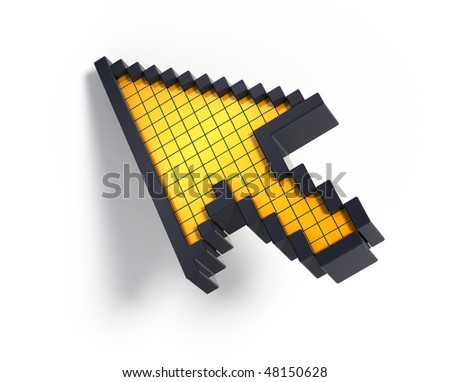 3d cursor - stock photo