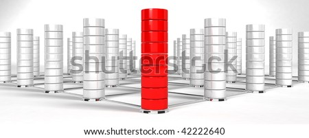 3d database structure - background - stock photo
