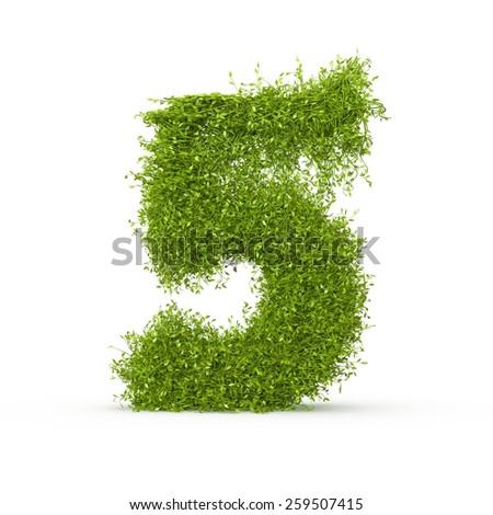 3d decorative nature number - stock photo