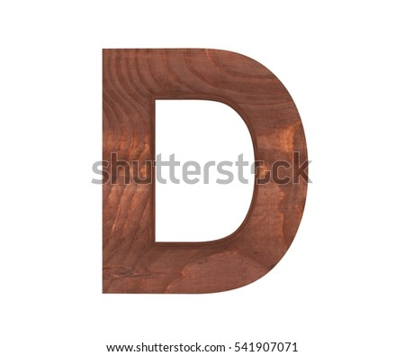 wooden letter d 3d letter d wood stock illustration 45787258 25673