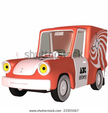 3D Delivery Truck - stock photo