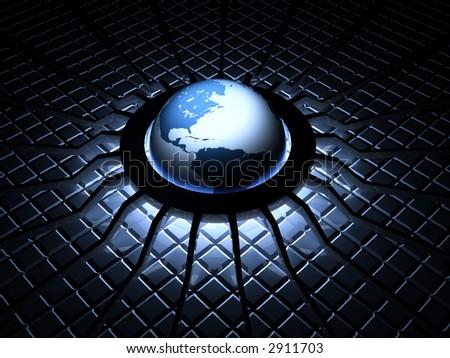 3d--design--background--globe - stock photo