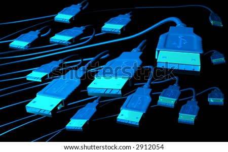 3d--design--background--USB - stock photo