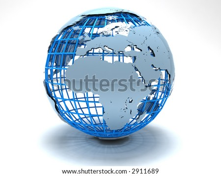 3d--design--globe - stock photo