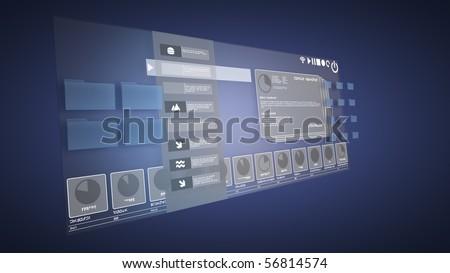 3d desktop - stock photo