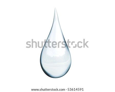 3D detailed illustration of a drop of water - stock photo