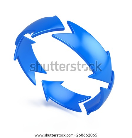 3d diagramm of arrow circle